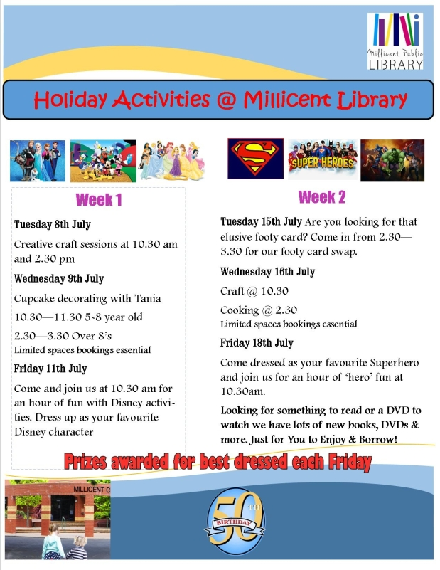 Advert for July holidays 2014