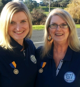 Rebekah and Sheryl with medals