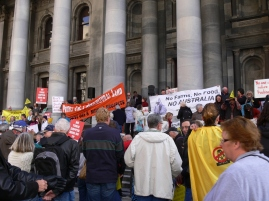 Combined communities gather on Parliament House steps