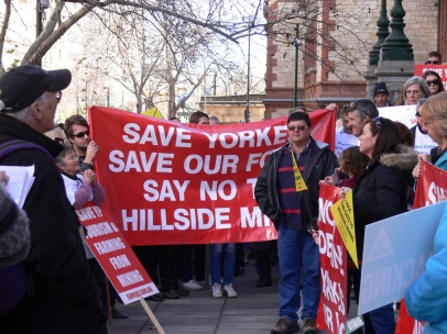 Save Yorke Peninsula signs were evident