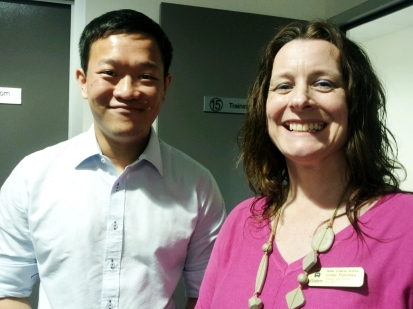 Shi Hong Kai and Linda Polomka Program Coordinator