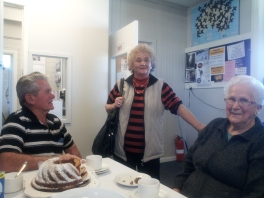 Gordon, Daphne and Edna enjoyed afternoon tea.
