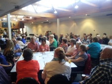 Approximately 90 people attended the Senior of the Year event