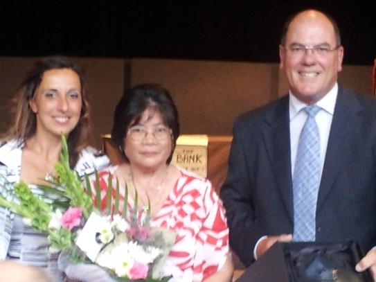 Wattle Range Council Catarina Santos, Senior of the Year Terry Laucirica and Mayor Peter Gandolfi