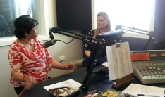 Terry being interviewed on 5THE FM by Rebekah Lowe about her Award on Froday afternoon program with Paul