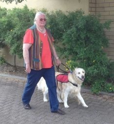 Janet and loyal friend walked for White Ribbon Day