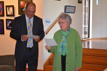 Mayor Peter Gandolfi and Gwenda Lawlor