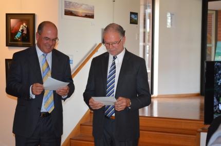 Mayor Gandolfi and Dennis Muhovics