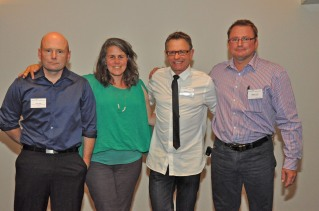 L-R Jason Smith, Sue Bell, Richard Gawel, Matthew Bailey.