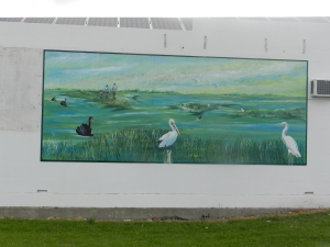 Mural on Fosters Foodland wall