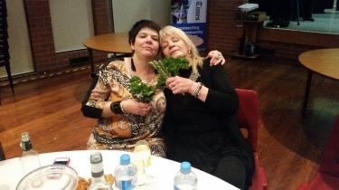 'Bridesmaid' Angela and Anne anjoyed the Holla-Fresh herbs