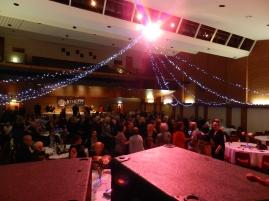 The dance floor was popular.