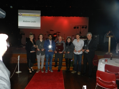 Winners:- Heaven on Hanger, Dylan Lambert, New Heaven Indian Restaurant, Fosters Foodland, Cocky's Signs, Holla-Fresh (Sandy Walshaw won Employee of the Year not pictured)