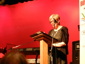 Chairman Margaret Chapple addressed the event
