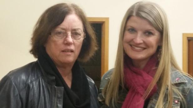 Sandy Stewart and Rebekah Lowe