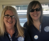 Manager 5THE FM Sheryl Lowe and Julianne McDuff who hosted the first live broadcast from the new OB Van