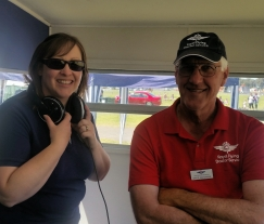 Julianne with David Marshman RFDS