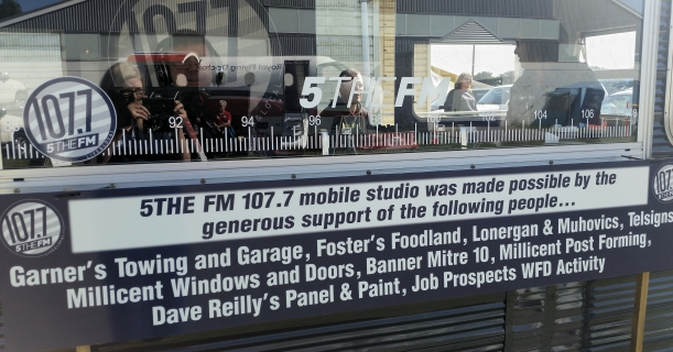 5THE FM's outside broadcast studio on show at the Millicent Show for the first time.